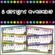 Freebie - Desk plates with colors and numbers in Spanish