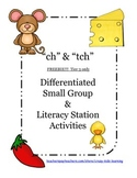 "Freebie - Digraph ""ch"" and Trigraph ""tch"" - Tier 3 only in Freebie Unit"