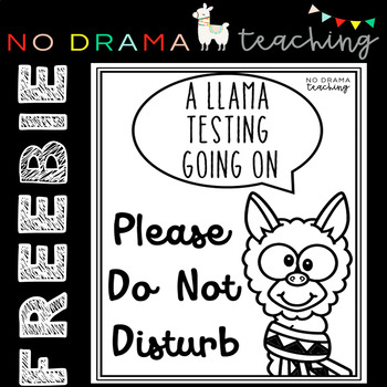 "Freebie ""Do Not Disturb"" Testing Sign"