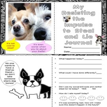 Don't Steal And Lie Social Skills/Story Worksheets No PPT SPED/ELD