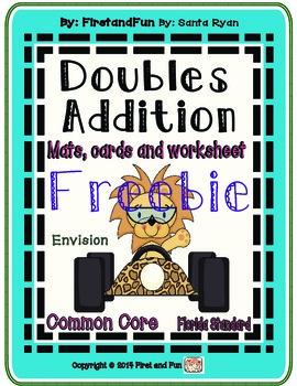 Freebie Doubles Envision Common Core MAFS Subtraction Mat Games