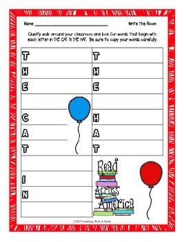 Freebie ~ Dr. Seuss ~ Read Across America ~ Write the Room