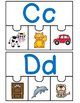 FREEBIE Dual Language 4 Piece Puzzles Letters A-F in both English and Spanish