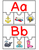Freebie!  Dual Language 4 Piece Puzzles Letters A-F in bot