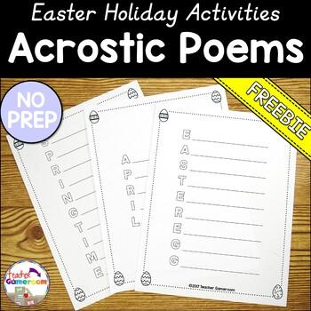 Freebie- Easter Acrostic Poems