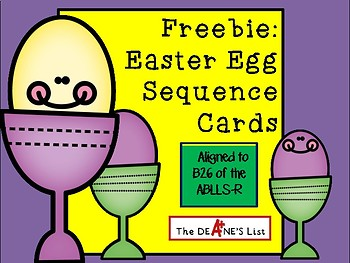 Freebie: Easter Egg Sequence Cards