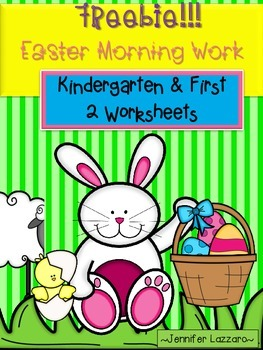 Freebie Easter Morning Work Kindergarten and First Grade