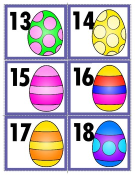 Freebie:   Easter Number Cards 1-30