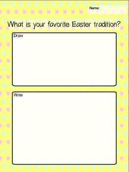Freebie *** Easter Stationary *Draw and Write* Activiy