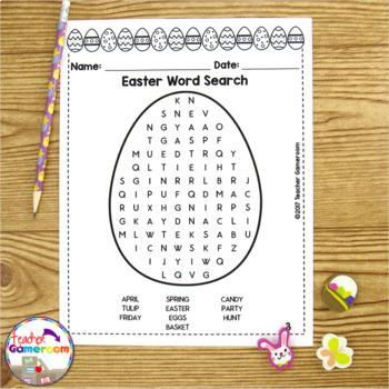 Freebie - Easter Word Search