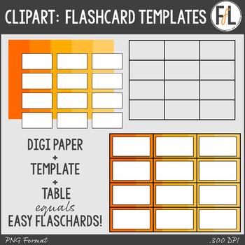 Easy Flashcard Templates Clipart