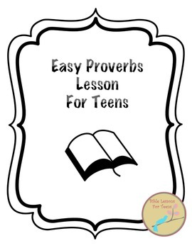 {Freebie} Easy Proverbs Lesson