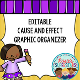 Freebie: Editable Cause and Effect Organizer