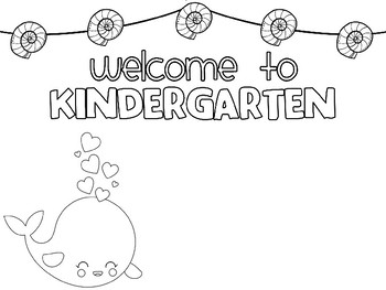 Freebie: Editable Happy Desk Coloring Sheets - First Day of Kindergarten