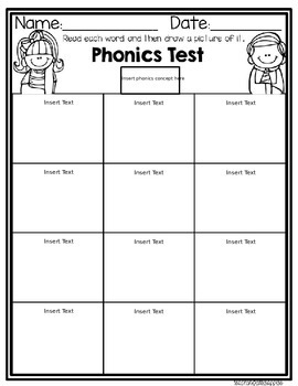 Freebie! Editable Phonics Tests