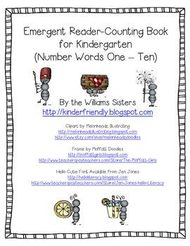 Freebie~ Emergent Reader Picnic Fun Counting Book
