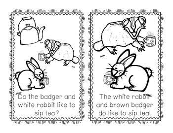 """Freebie Emergent Reader """"What Do Bear & His Friends Like to Do?"""""""