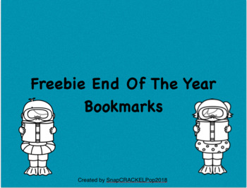 Freebie End Of The Year Bookmarks