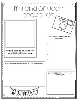 Freebie - End Of The Year Snapshot