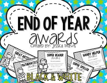 Freebie! {End-of-Year Awards} *Black & White*
