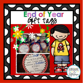 End of Year Gift Tags {FREE}