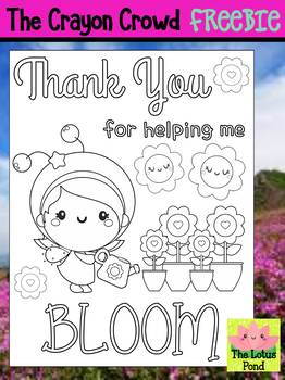 Freebie: End of the Year Coloring Page - The Crayon Crowd - Thank You Teacher