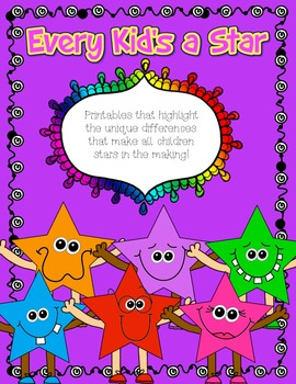 "Freebie!~ ""Every Kid's a Star"" Back to School Activities!"