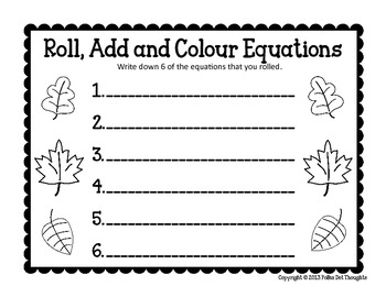 {Freebie} FALL Roll, Add and Colour