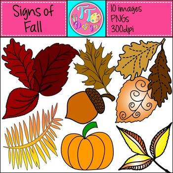 {Freebie} Signs of Fall Clip Art CU OK