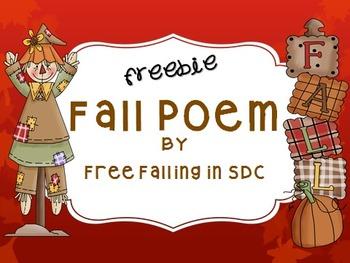 Freebie Fall Poem