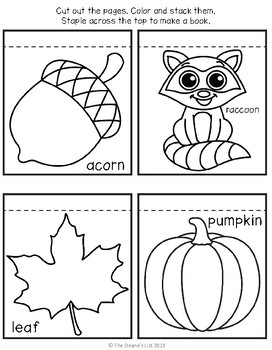 Freebie: Fall Vocabulary Mini-book