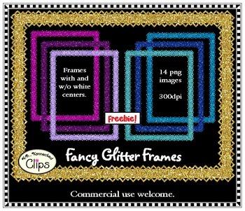 Freebie! Fancy Glitter Frames