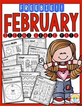 Freebie February Math Print N' Go