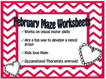 Freebie February Maze Worksheet