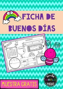 Free Ficha Asamblea - Buenos días Spanish Circle Time Morning work español