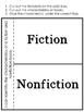 Freebie Fiction Vs. Nonfiction Texts