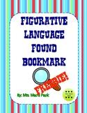 Figurative Language Found Bookmark- FREE!