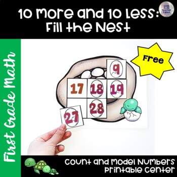 Go Math! Chapter 6 Free Place Value Puzzles for First Grade