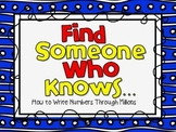 Freebie! Find Someone Who Knows-How to Write Numbers Throu
