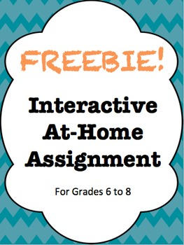 Freebie! Finding Math at Home - Interactive At-Home Assignment
