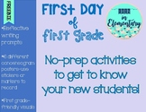 Freebie! First Day No-Prep Writing and Concensograms