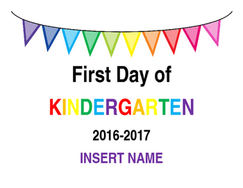 Freebie First Day of School Picture Printable (Editable)