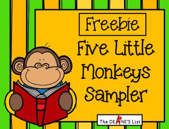 Freebie Five Little Monkeys Sampler