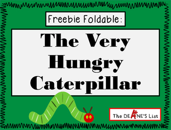 Freebie Foldable: The Very Hungry Caterpillar
