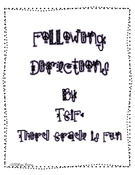 Freebie Following Directions
