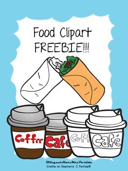Freebie Food Clipart Bilingual Stars Mrs. Partida Clips