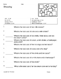 Freebie Free 5 Worksheets Math Shopping Arithmetic  Money Counting