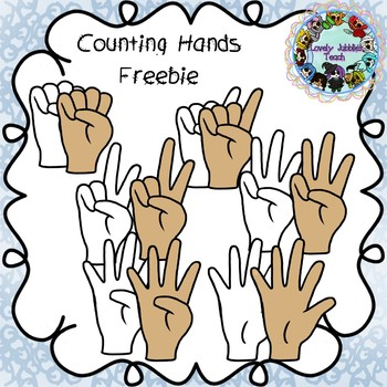 Counting Fingers Clip Art Teaching Resources