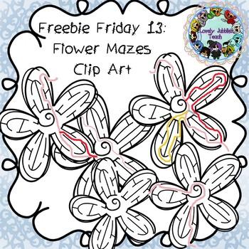 Freebie Friday 13: Flower Mazes