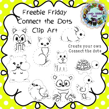 Freebie Friday 14: Connect the Dots Clip Art